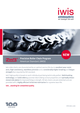 JWIS ANSI Precision roller chains - American standard