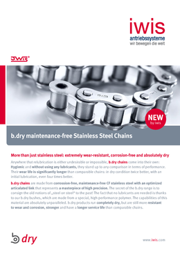 b.dry maintenance-free stainless steel chains