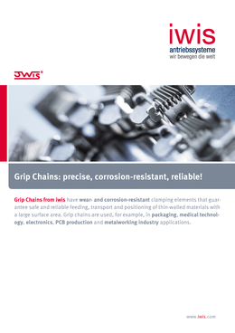 Grip chains iwis for packaging solutions