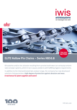 ELITE Hollow pin chains - Series HB50,8