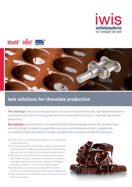 iwis Solutions for the Chocolate Industry