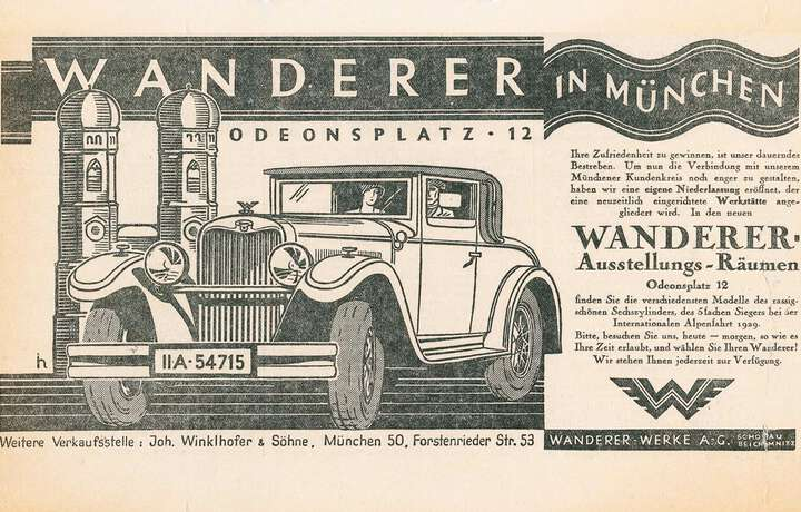 1933 End of sales activities for Wanderer-Werke goods