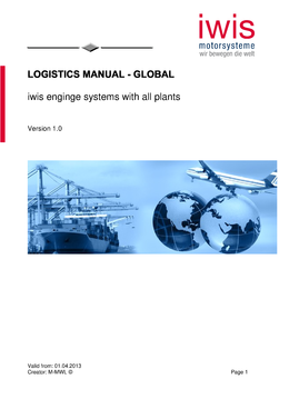 Logistics Manual - Global