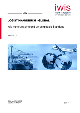 Logistikhandbuch - Global
