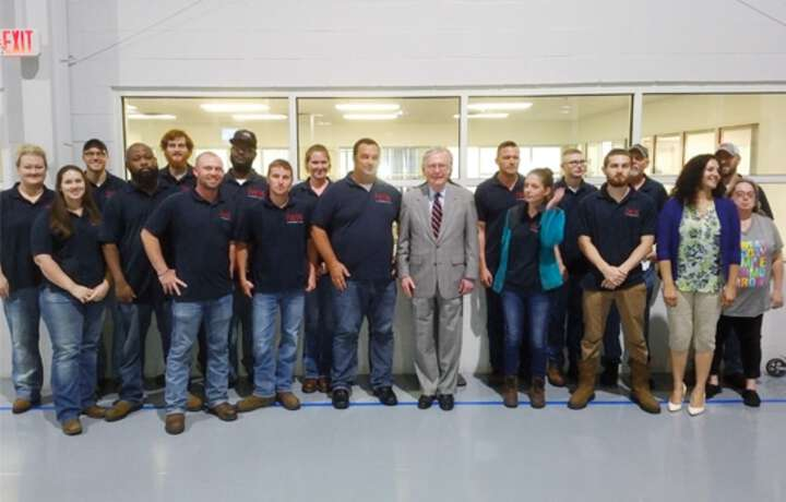 Senator McConnell visited us in Murray