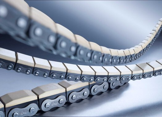 Roller chains with vulcanised elastomer profiles iwis